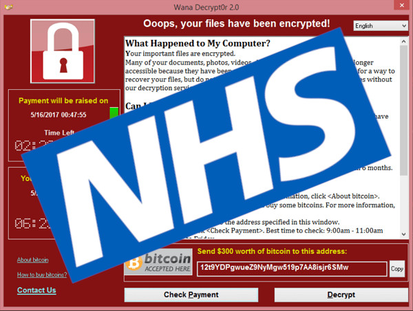 Wannacry ransomware cost the British National Health Service £92m ($121m)