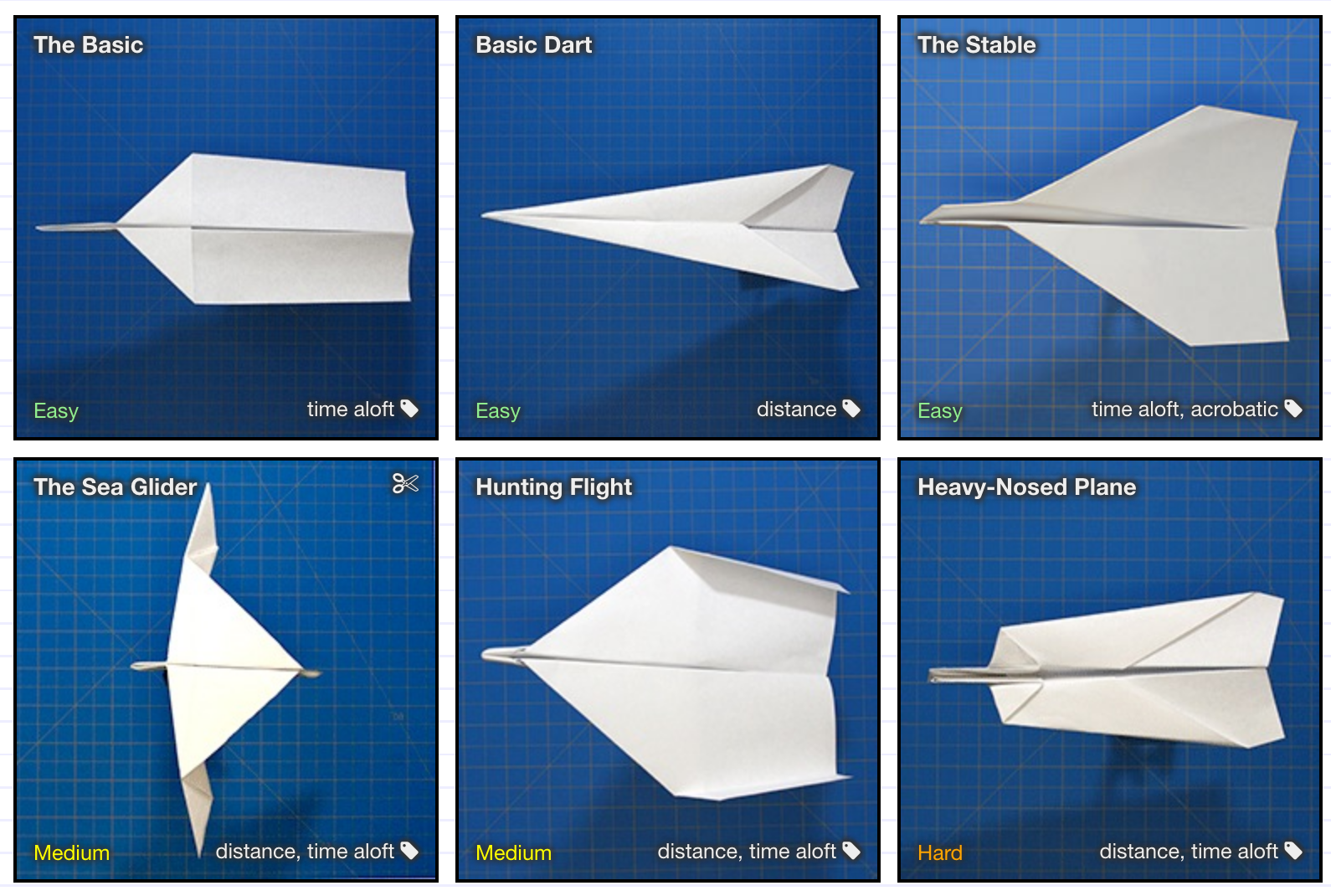 Paper airplane designs / Boing Boing - photo#25