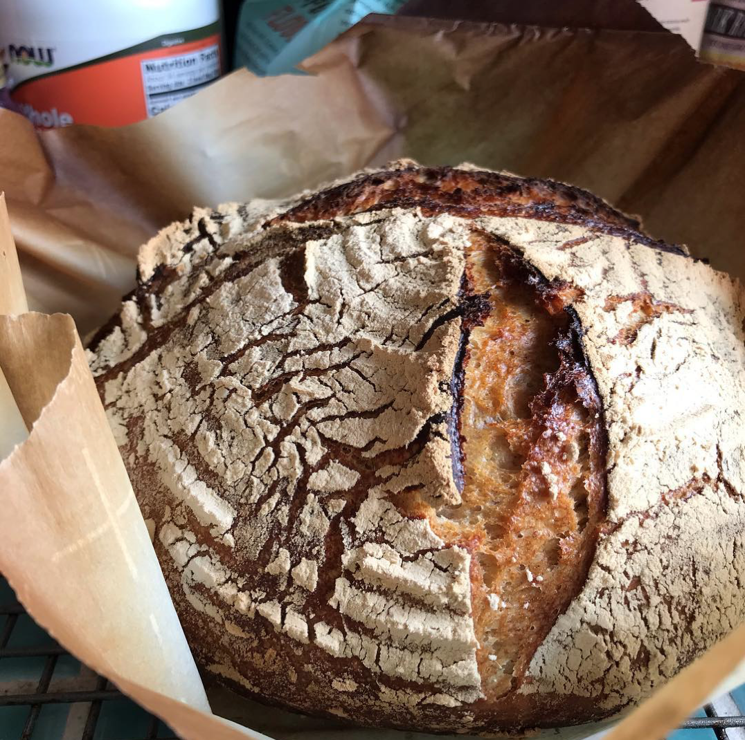 Using a dutch oven really improved my sourdough loaves