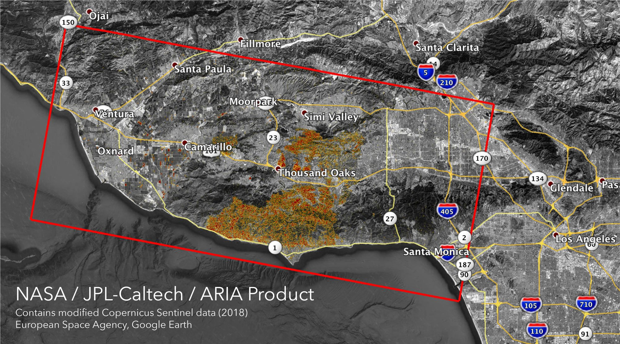 California Fires From Space Nasa Jpl Maps Damage From Woolsey And