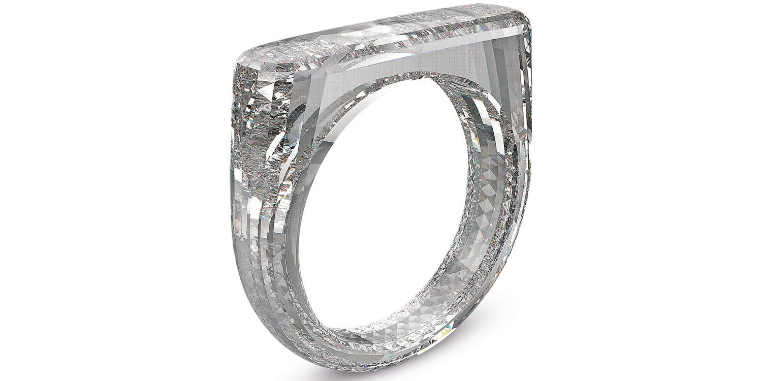 Diamond ring designed by Apple's Jony Ive and Marc Newson