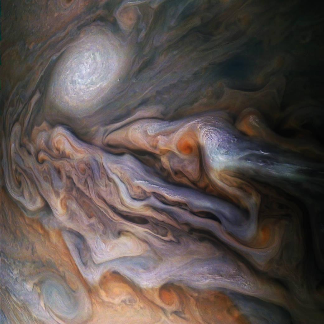 Astonishing close-up image of Jupiter taken by Juno last month
