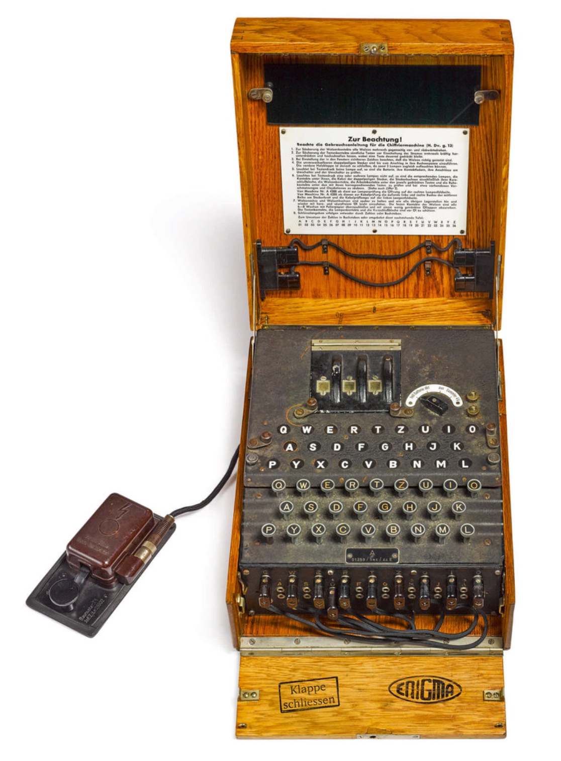 World War II Enigma cipher machine up for auction