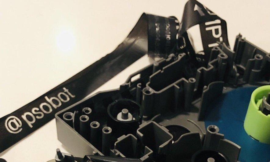 Analog privacy leak: discarded label maker cartridges