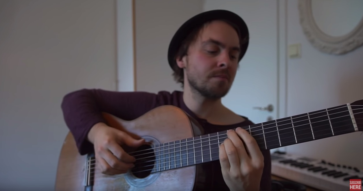 Musician demonstrates 10 difficulty levels of playing jazz guitar