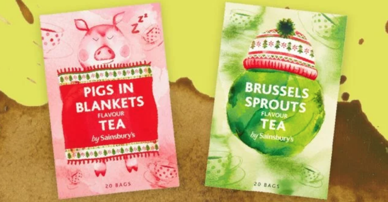 UK grocer offers strange new tea flavors: Brussels Sprouts and Pigs in Blankets