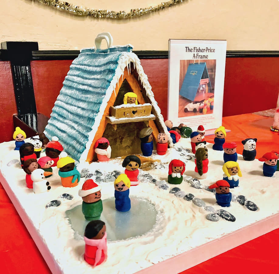This Gingerbread House Is Styled After The 1974 Fisher Price A Frame