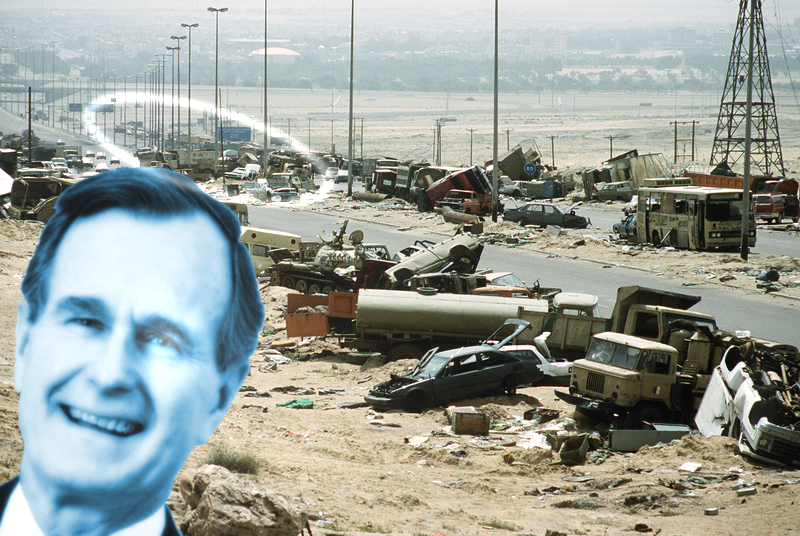 Image result for George H. W. Bush: War Criminal