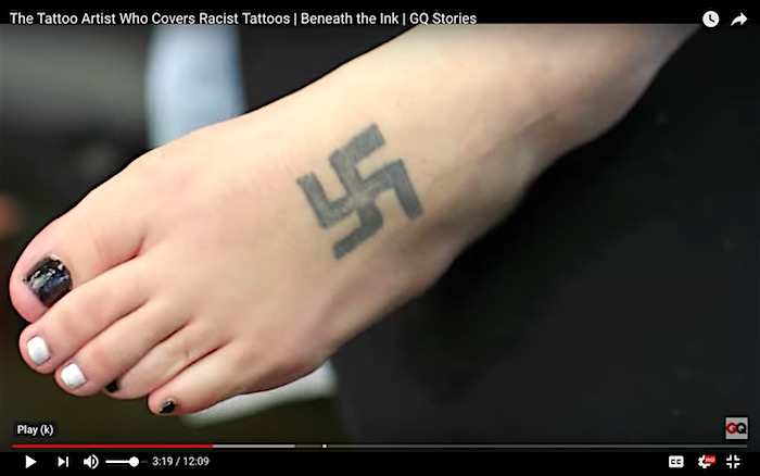 Video Red Rose Tattoo Offers To Cover Up Racist Ink At No Charge In