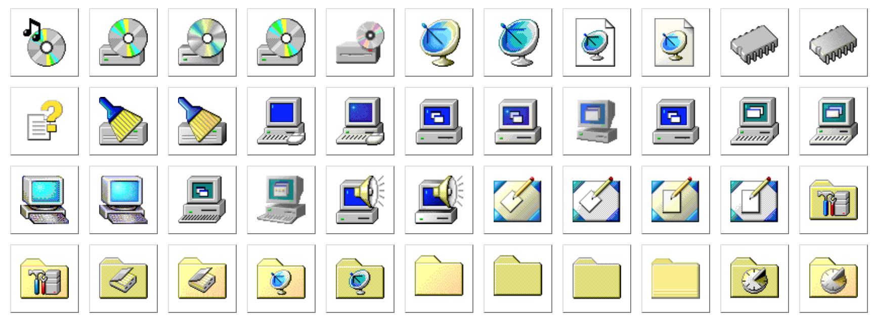 Online viewer for Windows 98's icon set