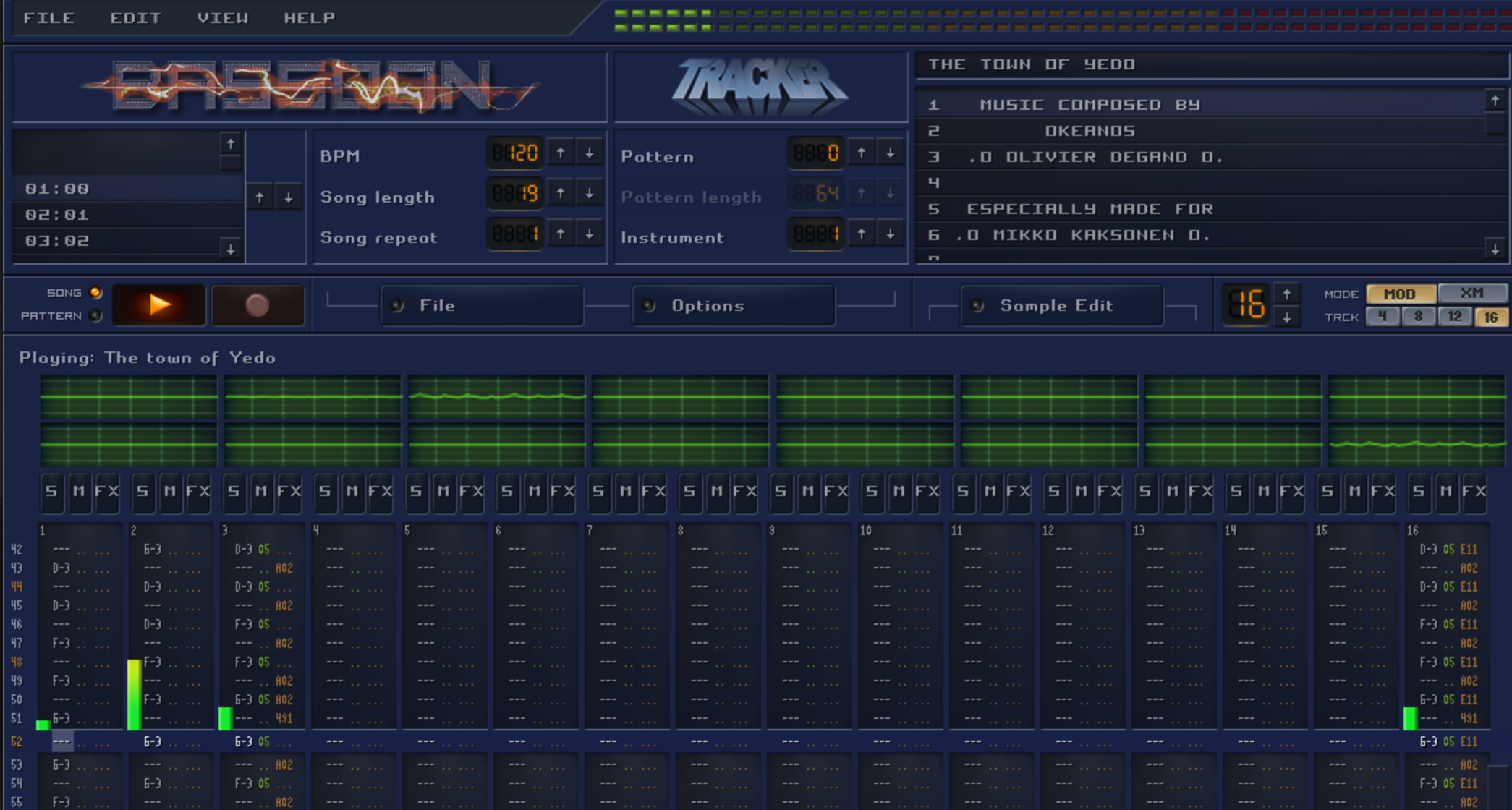 Bassoon Tracker: an Amiga-style music tracker on the web