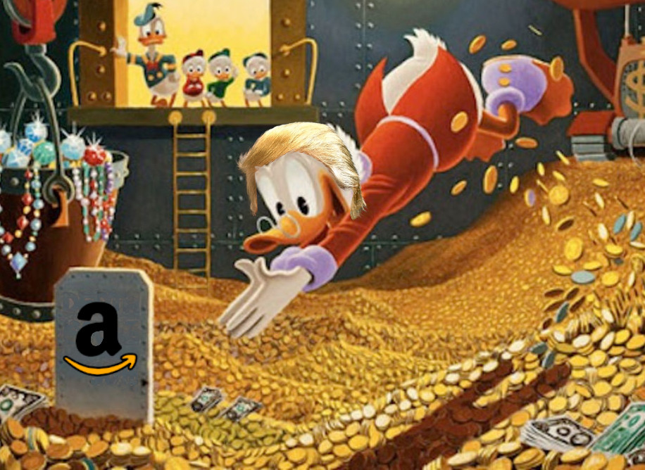 Amazon's 2018 profits: $11.2 billion; Amazon's 2018 IRS bill: negative $129 million