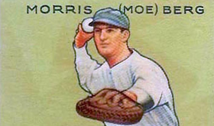 Baseball catcher Moe Berg became a spy during World War II