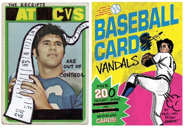 Two brothers deface worthless baseball cards for fun and profit
