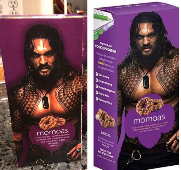 Girl Scout Puts Shirtless Aquaman Hunk On Cookie Box And Sales