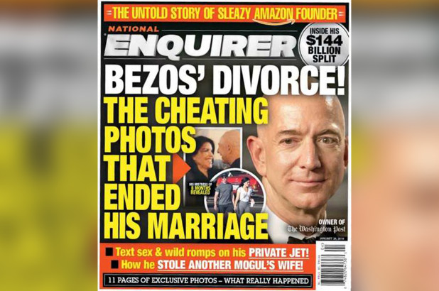 Image result for jeff bezos text national enquirer