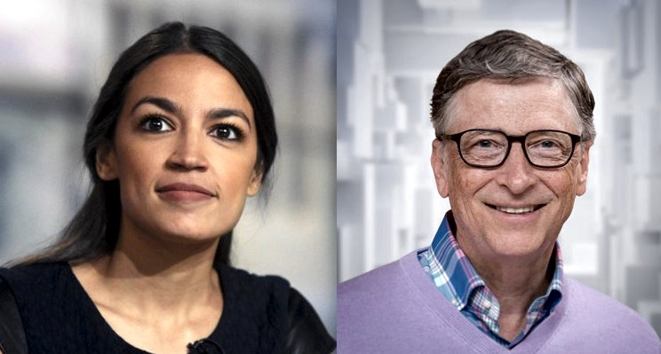 Bill Gates debates Alexandria Ocasio-Cortez 'tax the rich' policy