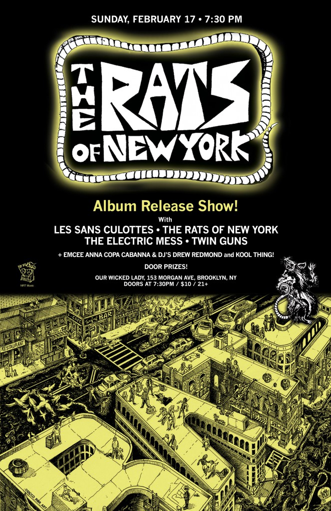 To do on Sunday in NYC: launch party for the Rats of New