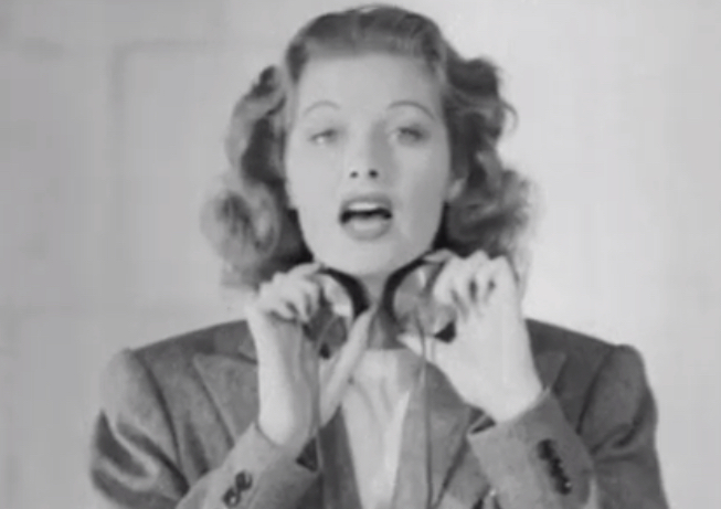 """Watch Lucille Ball demo a 1939 ancestor of the """"talk box"""" famously used by Peter Frampton"""