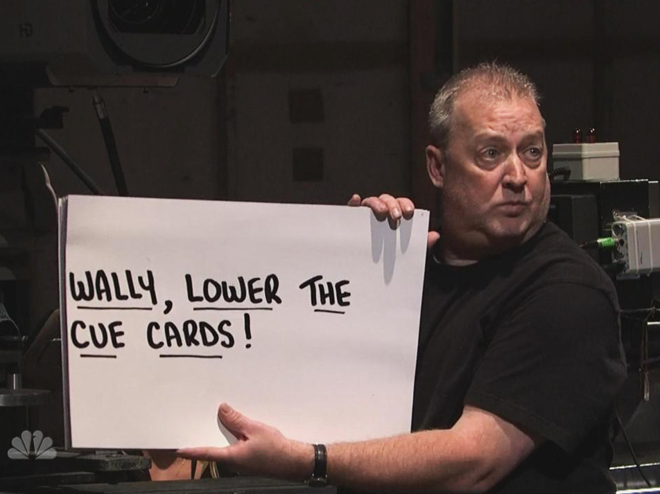 The story of SNL's cue cards is fascinating. No, really.
