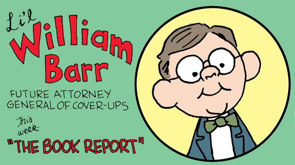 Image result for william barr cover up general cartoon