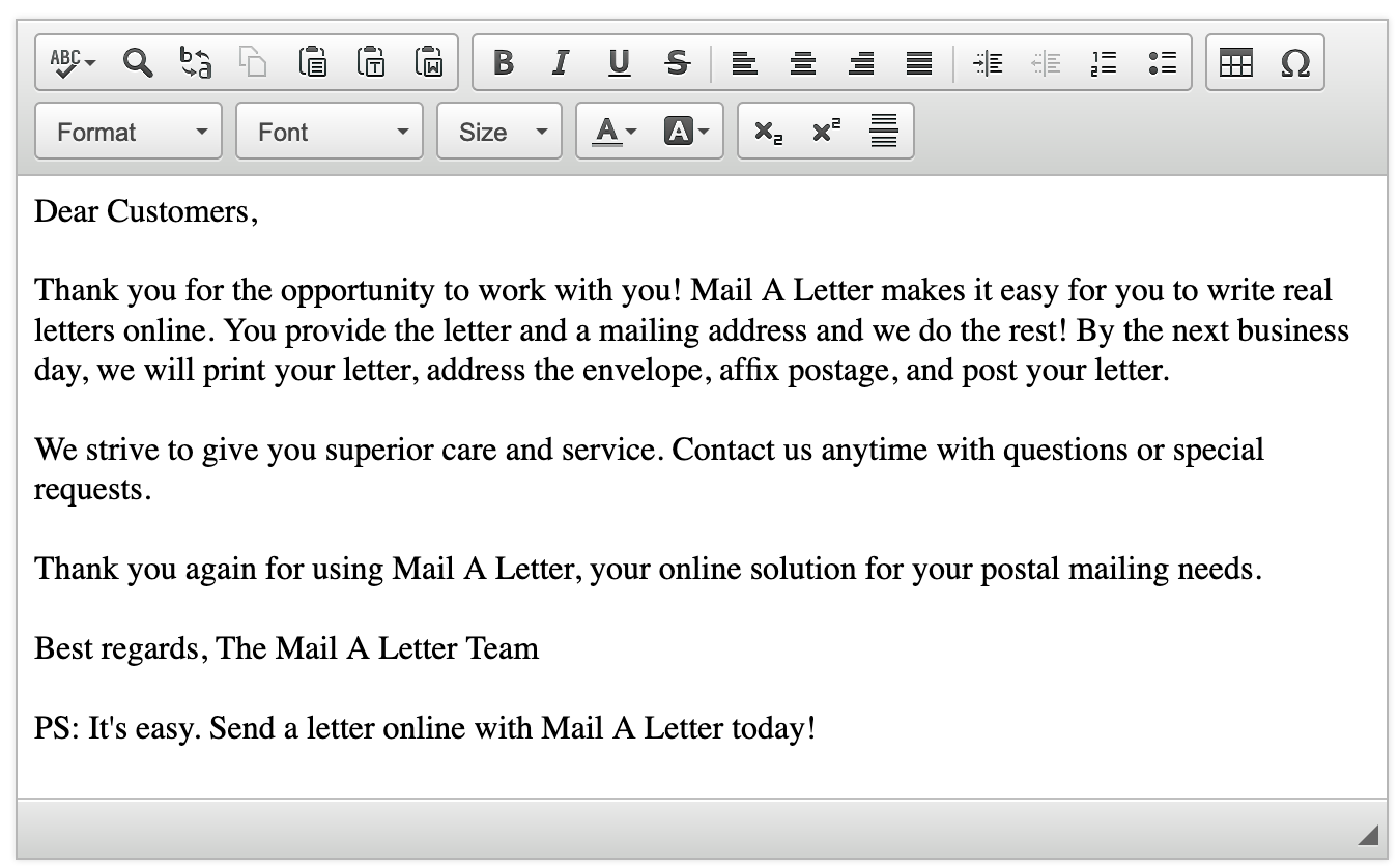 Mail an old-fashioned letter, made of actual paper, via the
