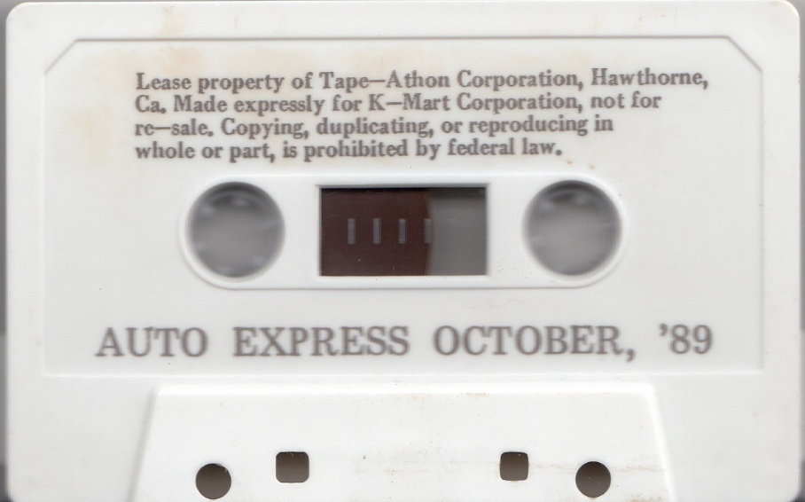 Listen: Kmart in-store music/announcements cassette from