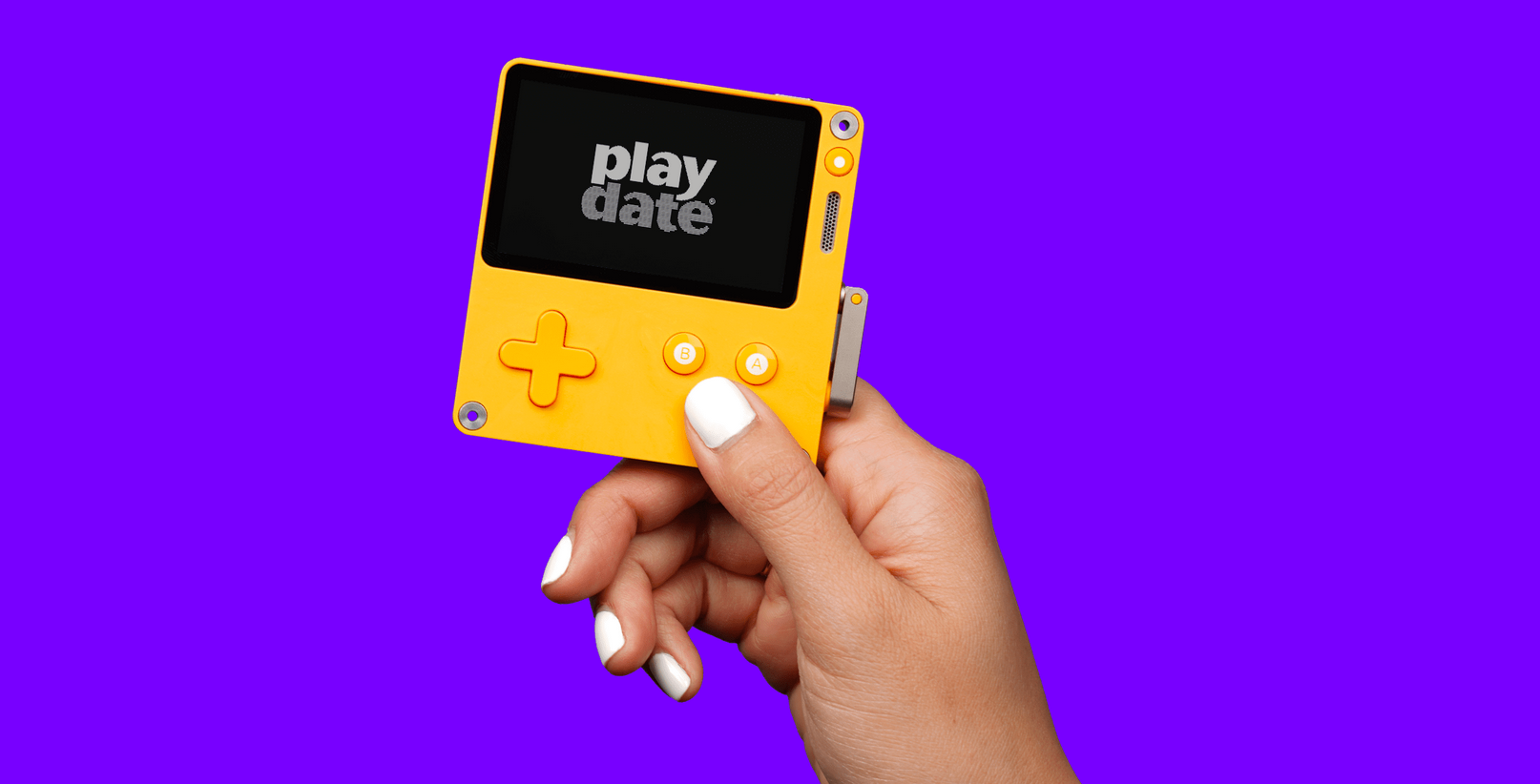 QnA VBage Playdate, a tiny game console with a big pedigree
