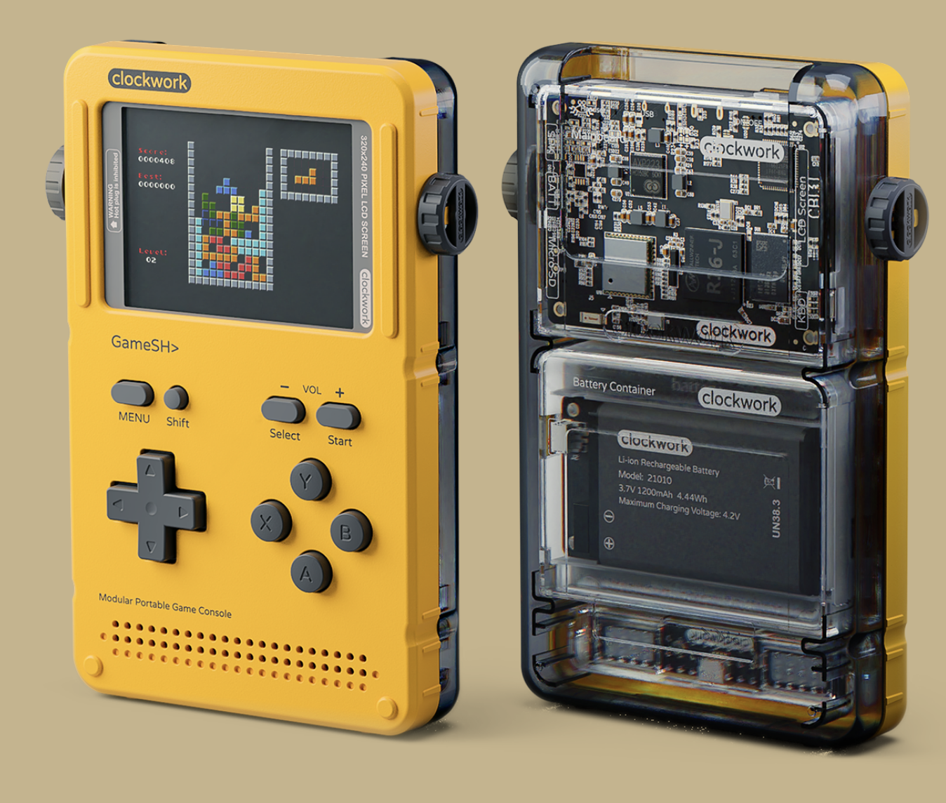 GameShell: hackable portable game console for indie devs and