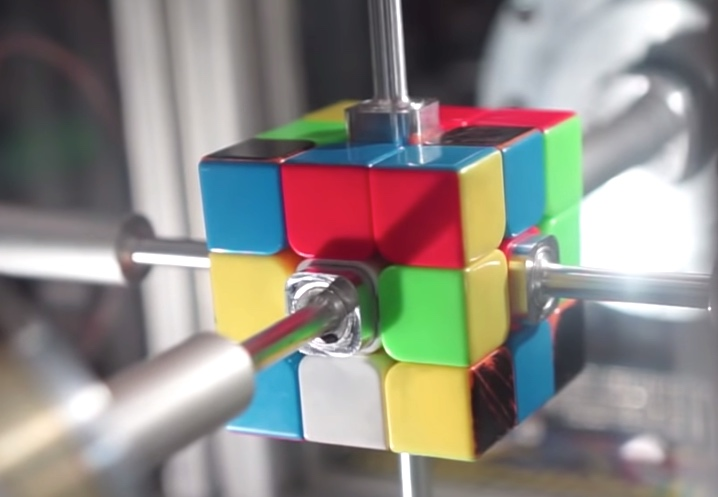 Watch a robot solve a Rubik's cube in less than half a second