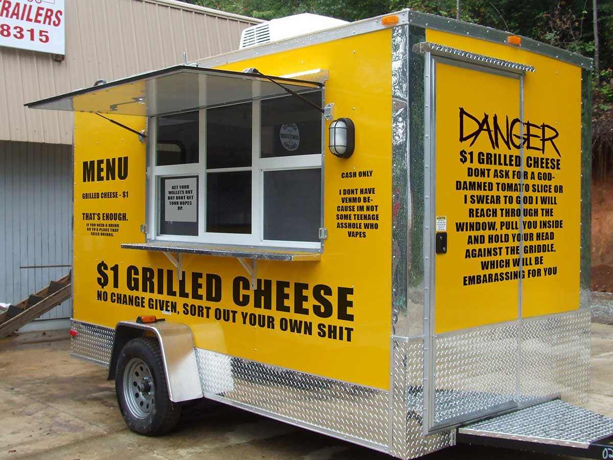 World's surliest grilled cheese cart / Boing Boing