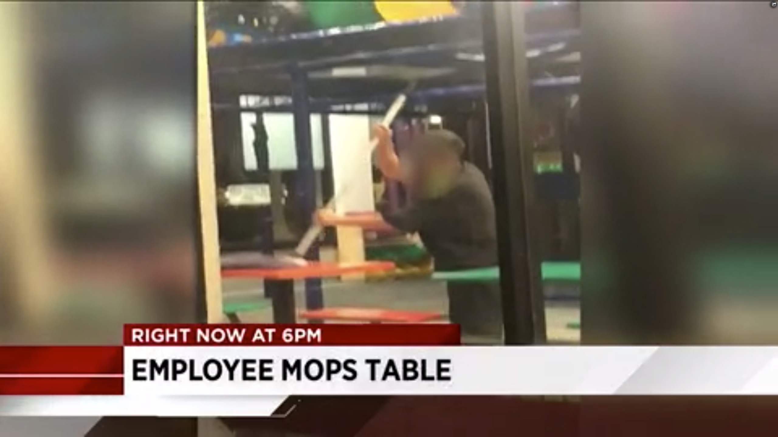 Image result for burger king employee mop