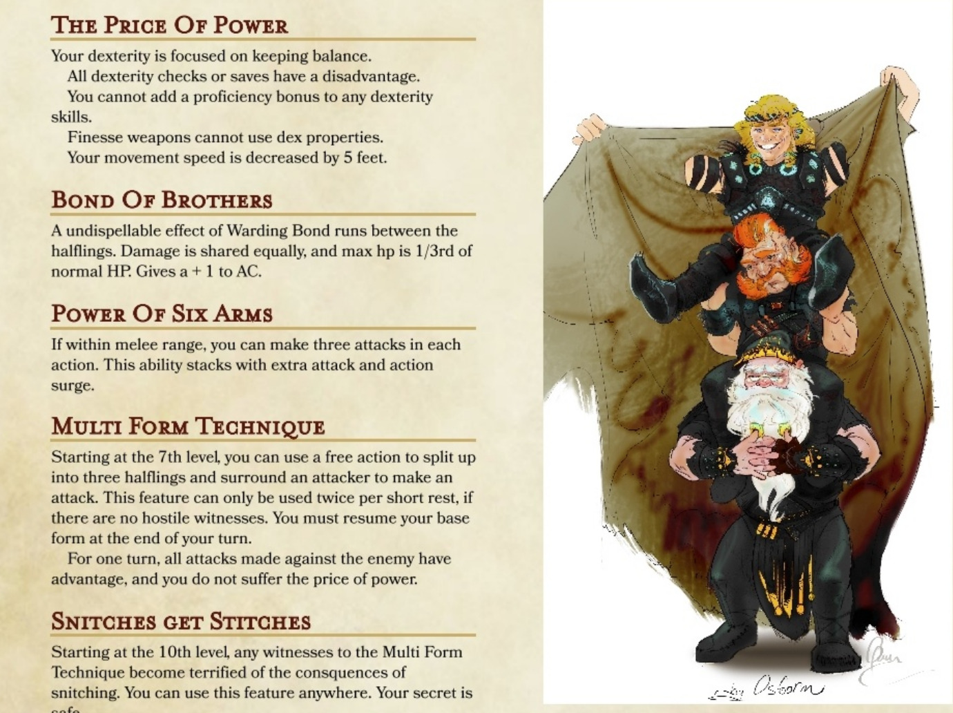 Three Halflings in a Trenchcoat: a homebrew fighter class for D&D