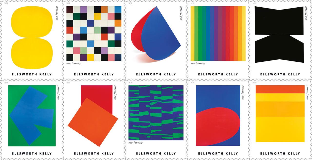 Ellsworth Kelly USPS stamps