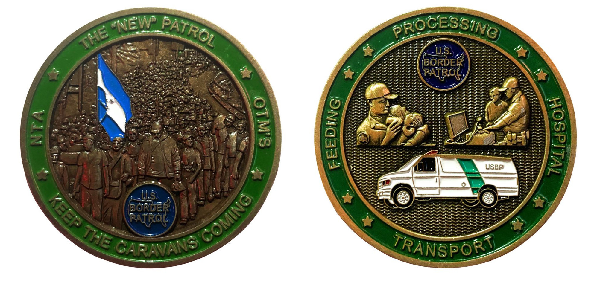 CBP employees' new challenge coin mocks care for migrant kids