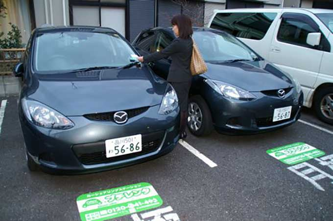 People in Japan are renting cars, but not to drive them anywhere