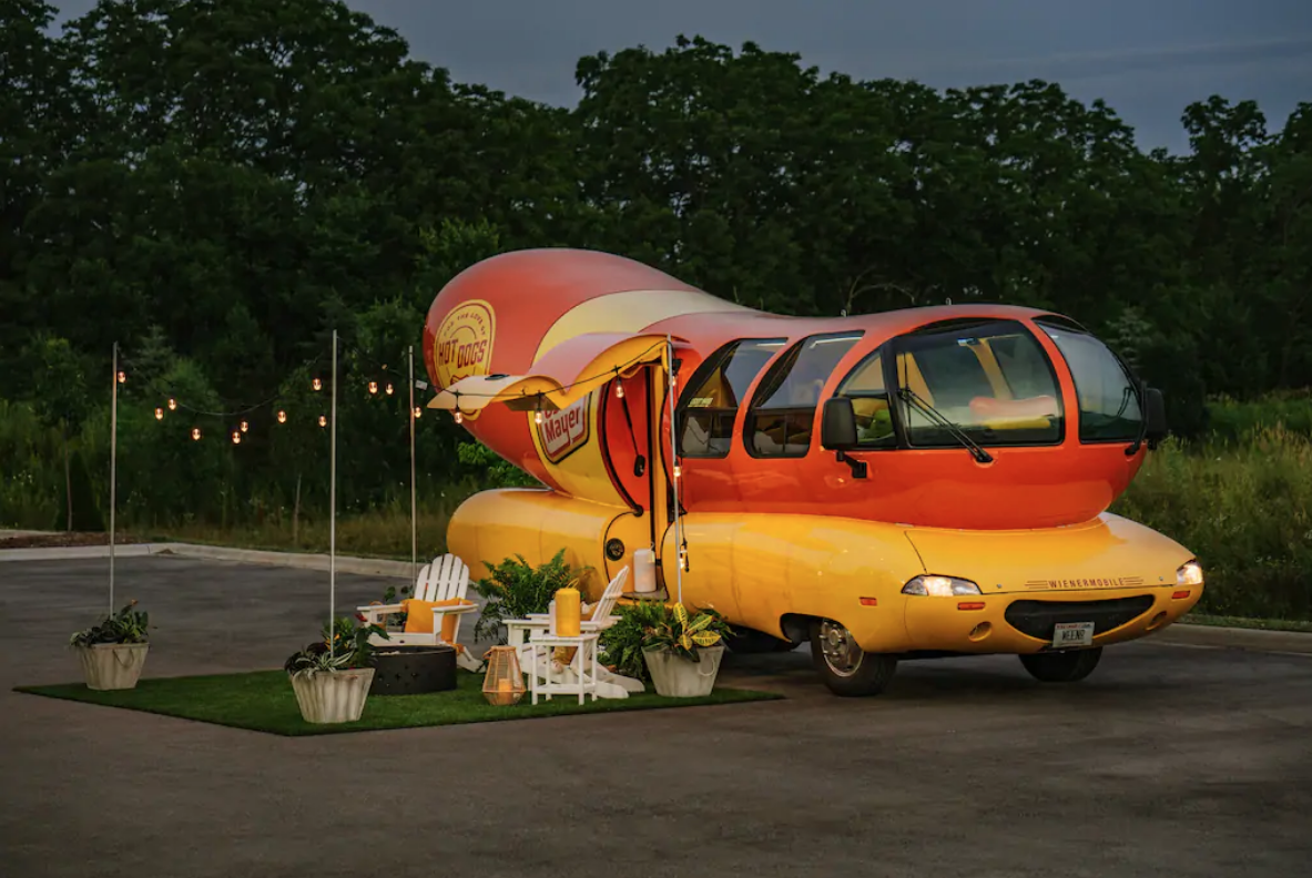 """Spend a """"bunderful"""" night in the Wienermobile through Airbnb"""