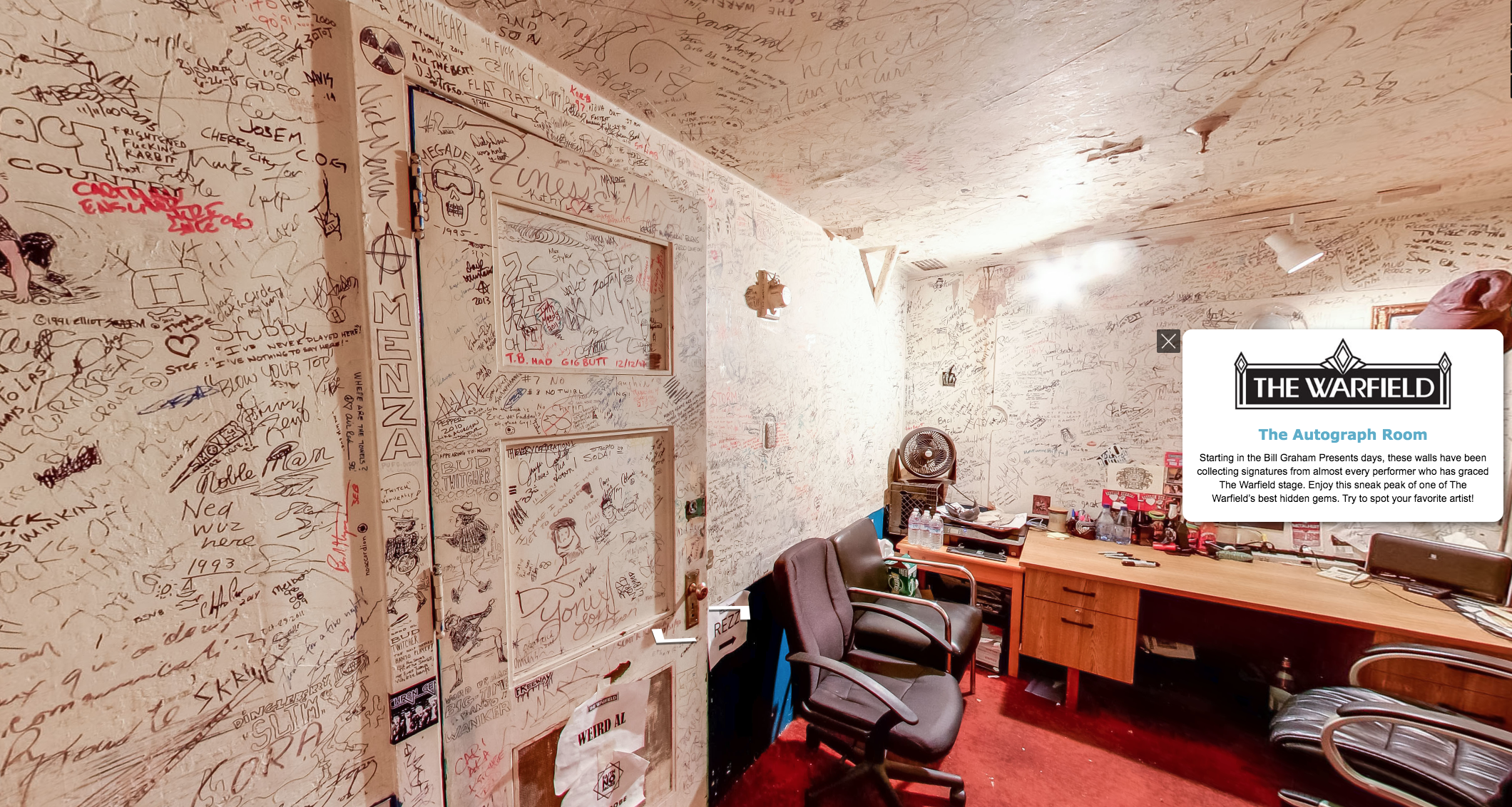 Warfield Autograph Room