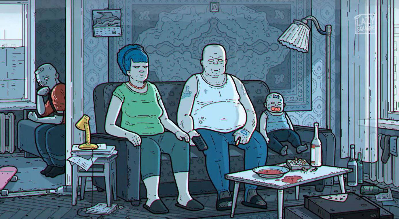 The Simpsons intro as a Russian art film
