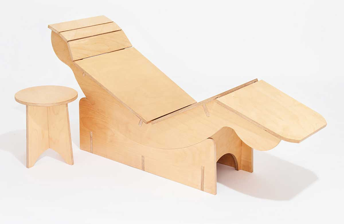 This designer makes furniture from single sheets of plywood