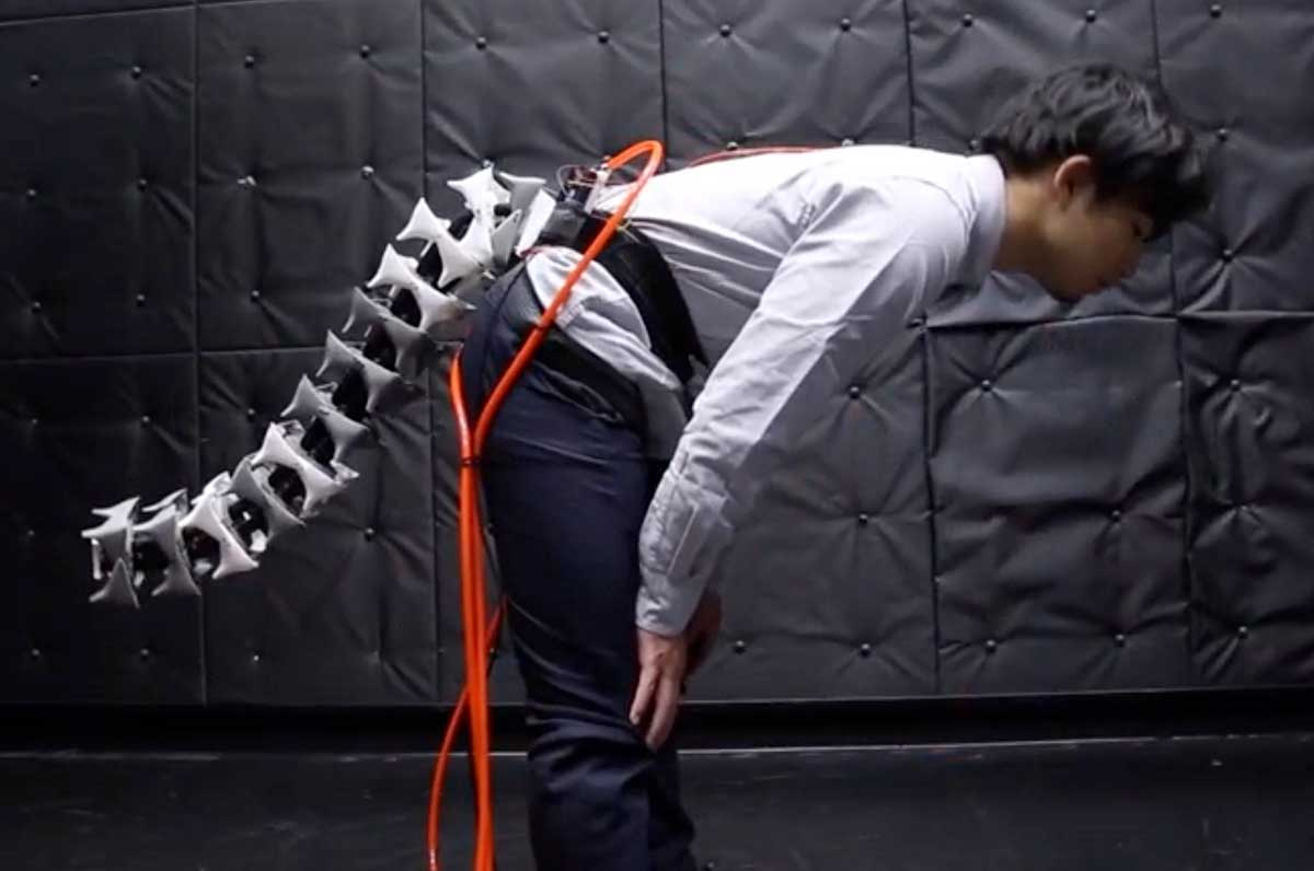 Engineers design a robotic tail for people to assist with balance and movement