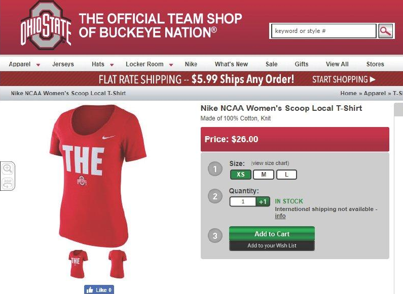 Ohio State University files for a trademark on