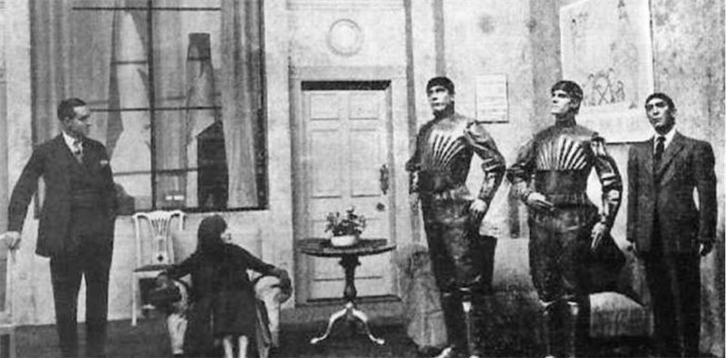 "The word ""robot"" originated in this 1921 Czech play"