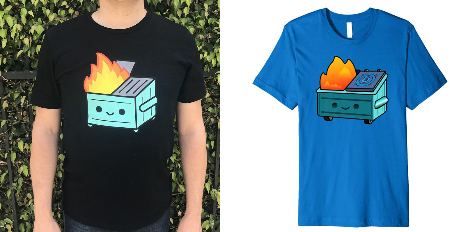 Shirt at conservative website suspiciously similar to indie artist's design, but with a D on it