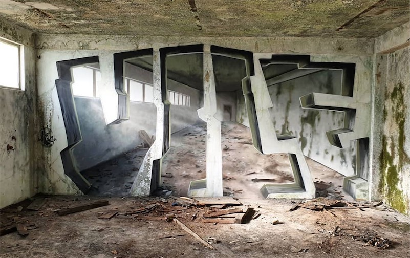 Fantastic Graffiti Optical Illusions By Artist Vile Boing
