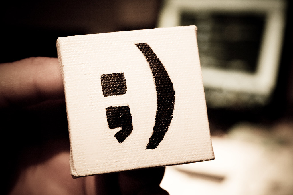 "Photo of ""Semicolon art"" by Mauricio Balvanera"