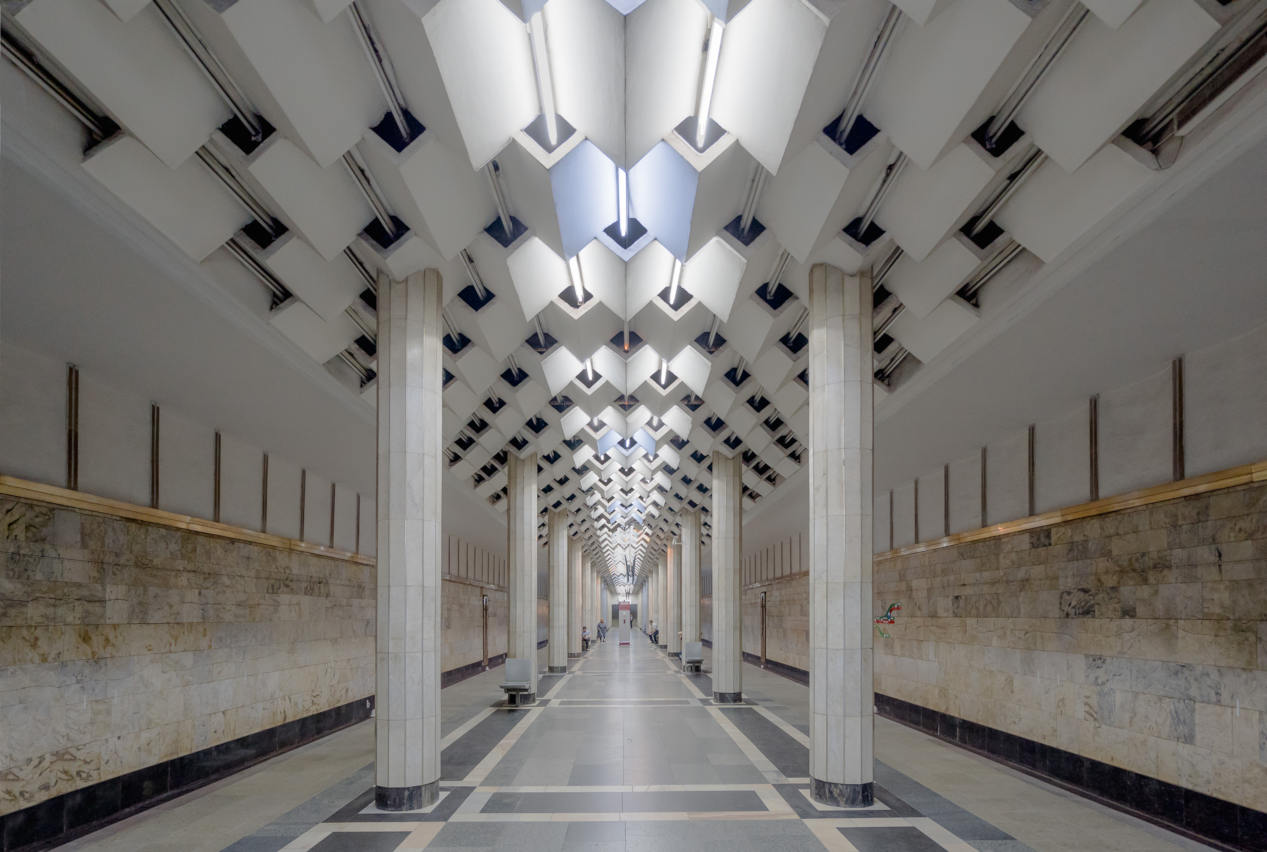 Photo of a Soviet subway station by Christopher Herwig