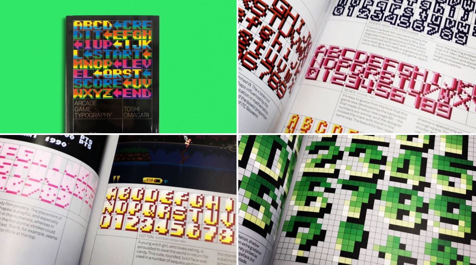 Arcade Game Typography Beautiful Book Of Pixel Fonts