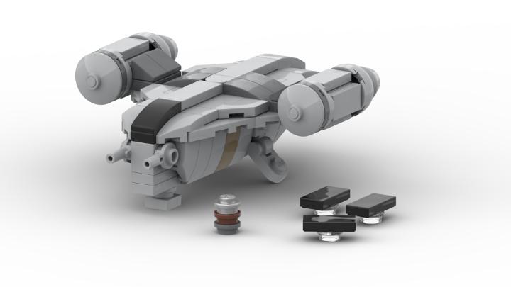 build the mandalorian 39 s razor crest in lego microscale. Black Bedroom Furniture Sets. Home Design Ideas