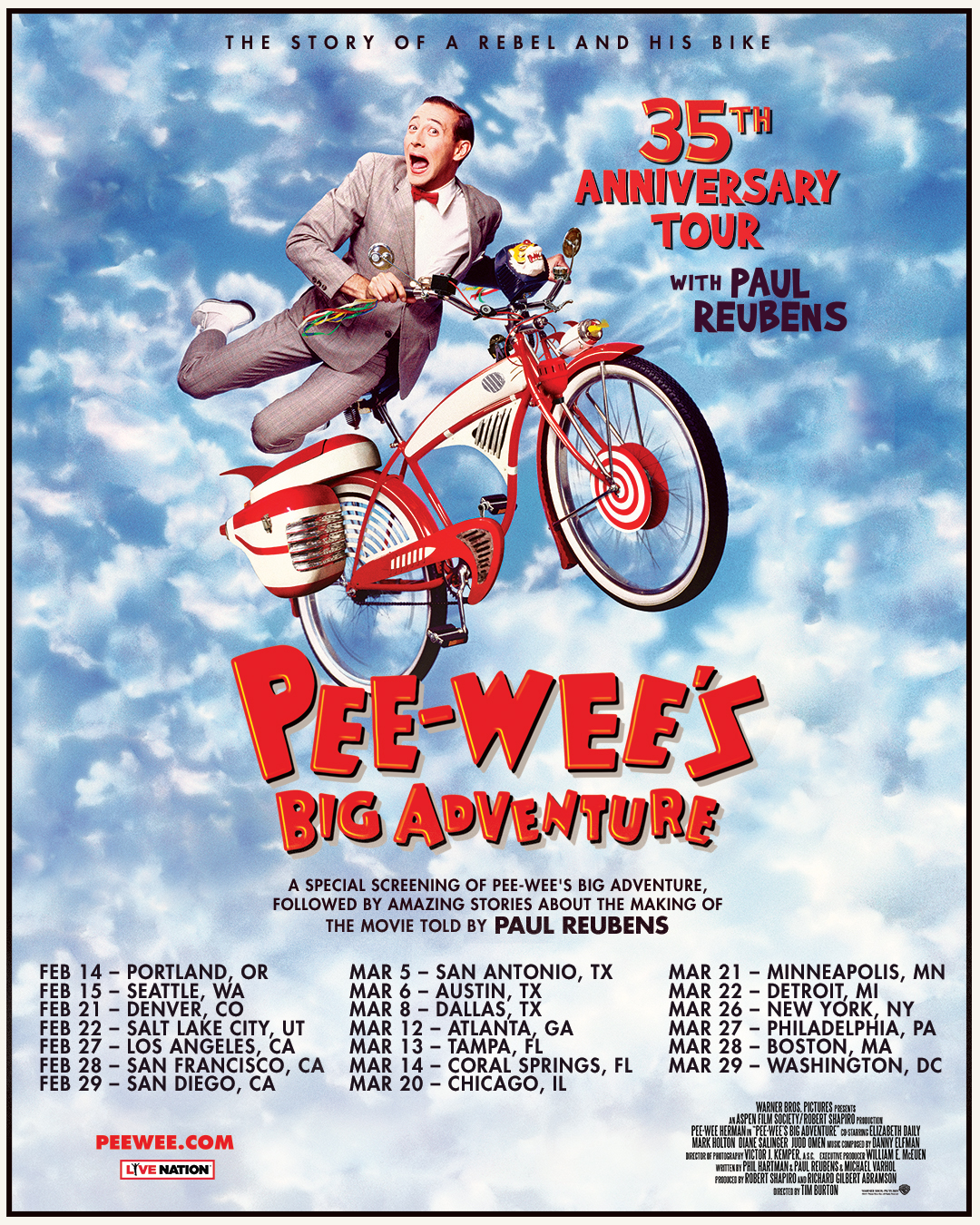 Pee-wee's Big Adventure 35th Anniversary Tour